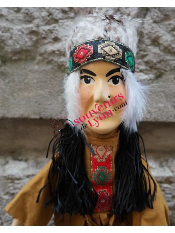 Marionnette l'Indien des Amériques chez Souvenirsdelyon.Com