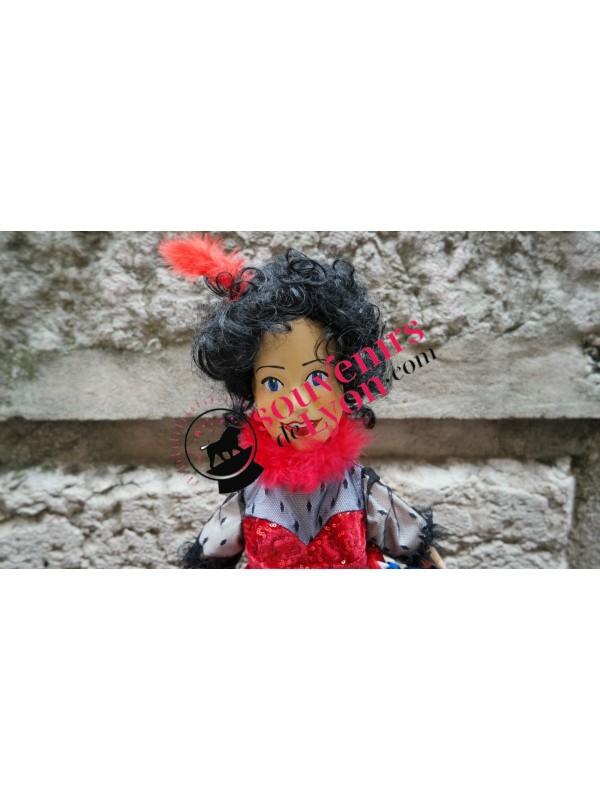 Marionnette la danseuse de French Cancan chez Souvenirsdelyon.com