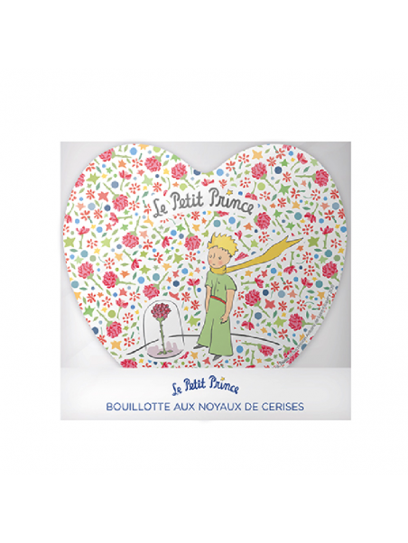 Bouillotte coeur noyaux de cerises le Petit Prince liberty chez Souvenirsdelyon.com