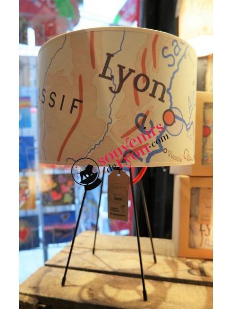 Lampe Lyon Géographie Zaralobo chez Souvenirsdelyon.com