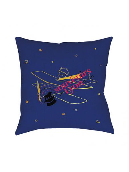 Coussin garni le Petit Prince aviateur chez Souvenirsdelon.com