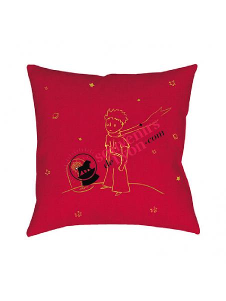 Coussin garni le Petit Prince et la rose chez Souvenirsdelyon.com