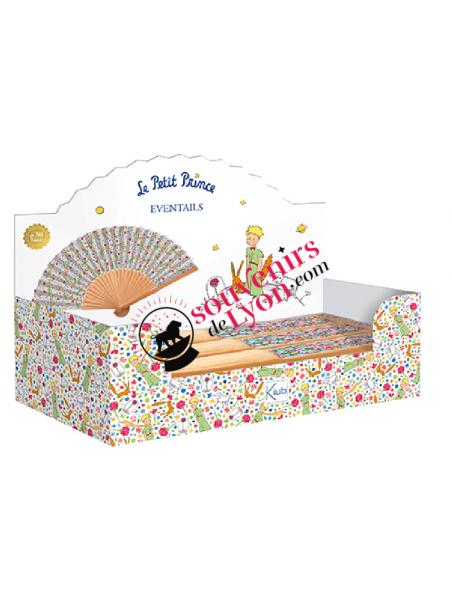 Eventail bambou le Petit Prince liberty chez Souvenirsdelyon.com