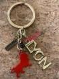 Lyon Onlylyon gold key ring Souvenirsdelyon.com