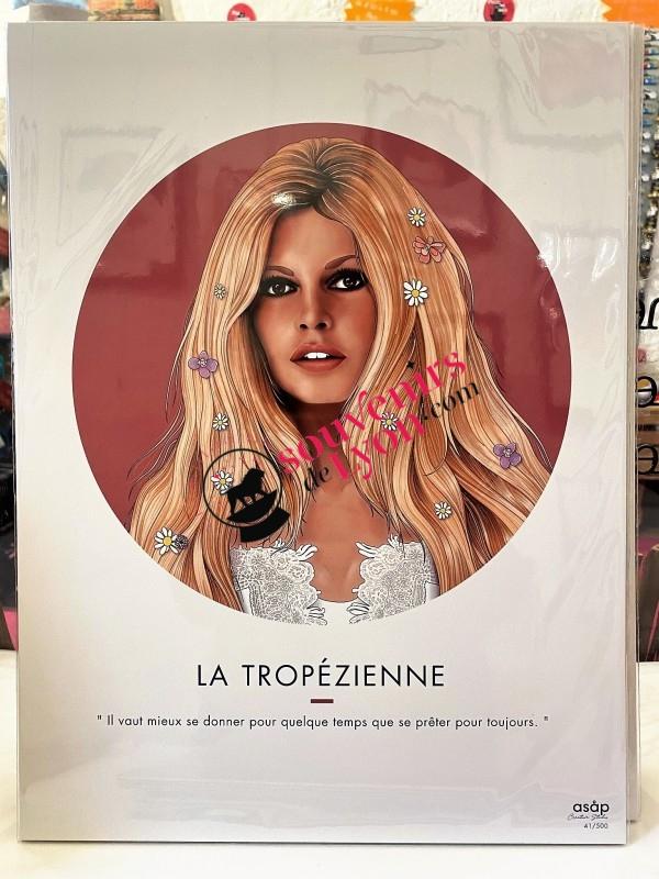 La Tropézienne - Brigitte Bardot - Asap poster chez Souvenirsdelyon.com