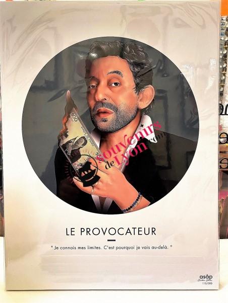 The Provocateur - Serge Gainsbourg - Asap poster Souvenirsdelyon.com