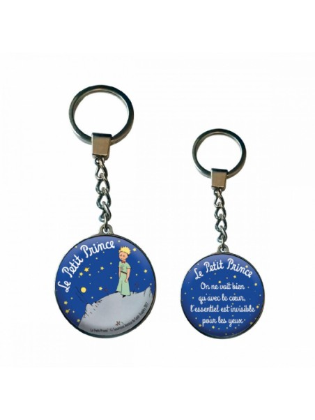 Porte-clés le Petit Prince bulle nuit étoilée chez Souvenirsdelyon.com