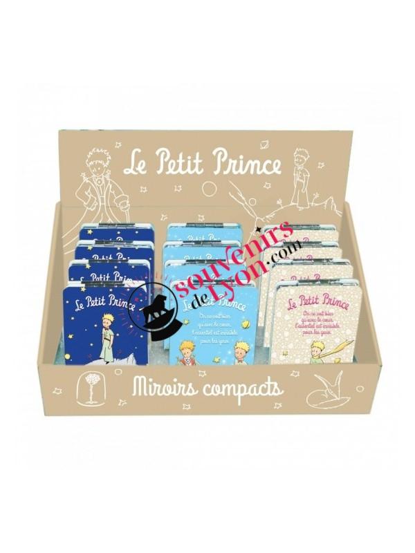 Miroir de poche le Petit Prince, la rose et le renard chez Souvenirsdelyon.com