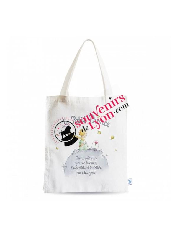Tote bag le Petit Prince et sa rose chez Souvenirsdelyon.com