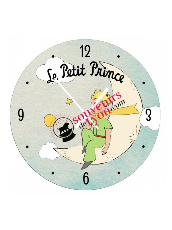 Horloge le Petit Prince sur la lune chez Souvenirsdelyon.com