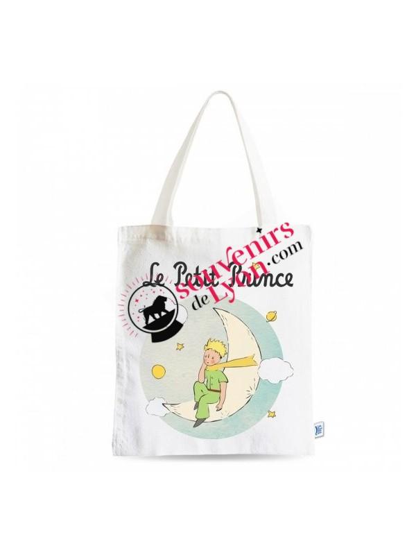 Tote bag le Petit Prince sur la lune chez Souvenirsdelyon.com