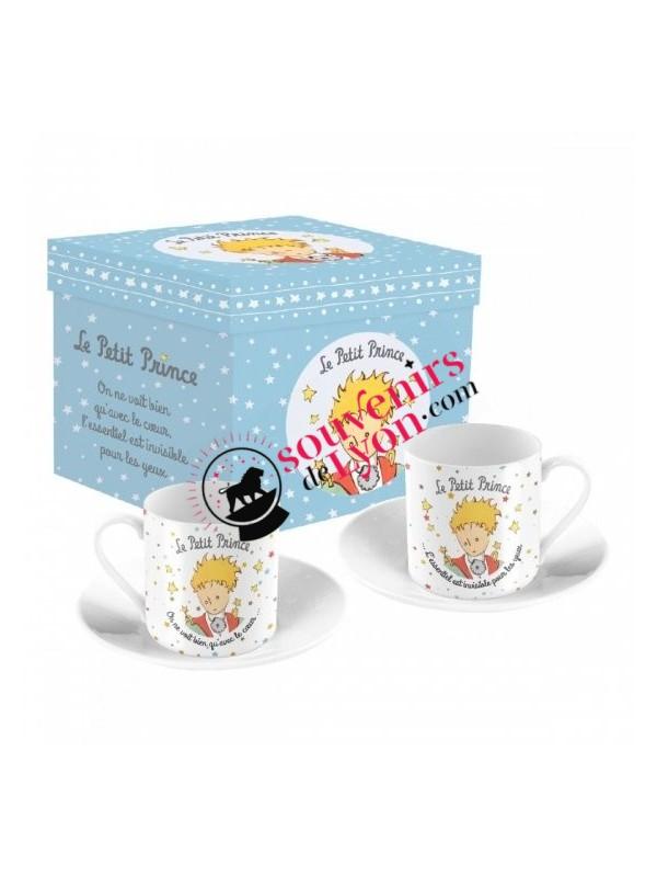 Set de 2 tasses à café le Petit Prince portrait chez Souvenirsdelyon.com