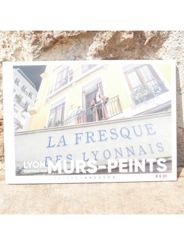 Livre Lyon Capitale des murs peints chez Souvenirsdelyon.com