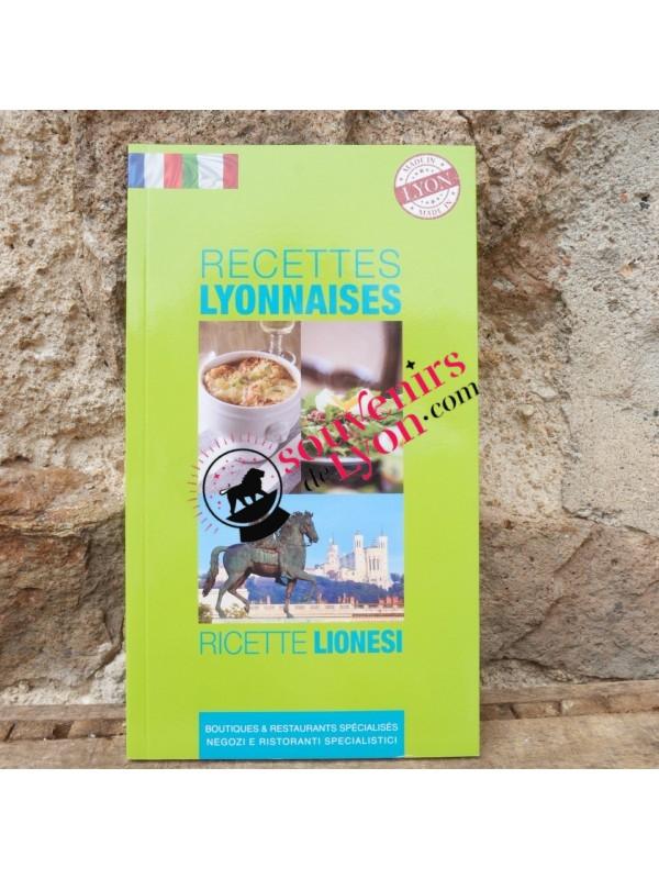 Livre de recettes lyonnaises en français/italien chez Souvenirsdelyon.com