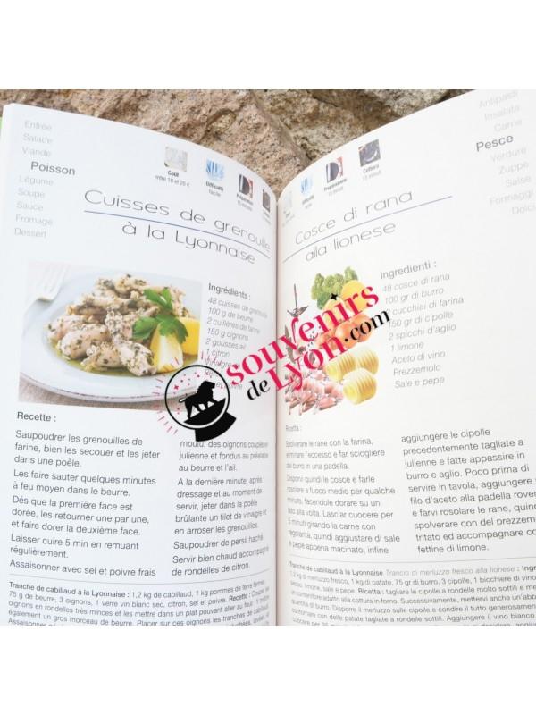 Lyon recipe book in French / Italian Souvenirsdelyon.com