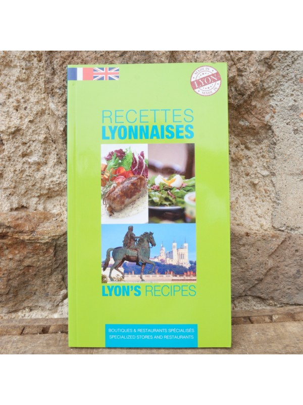 Livre de recettes lyonnaises en français/anglais chez Souvenirsdelyon.com