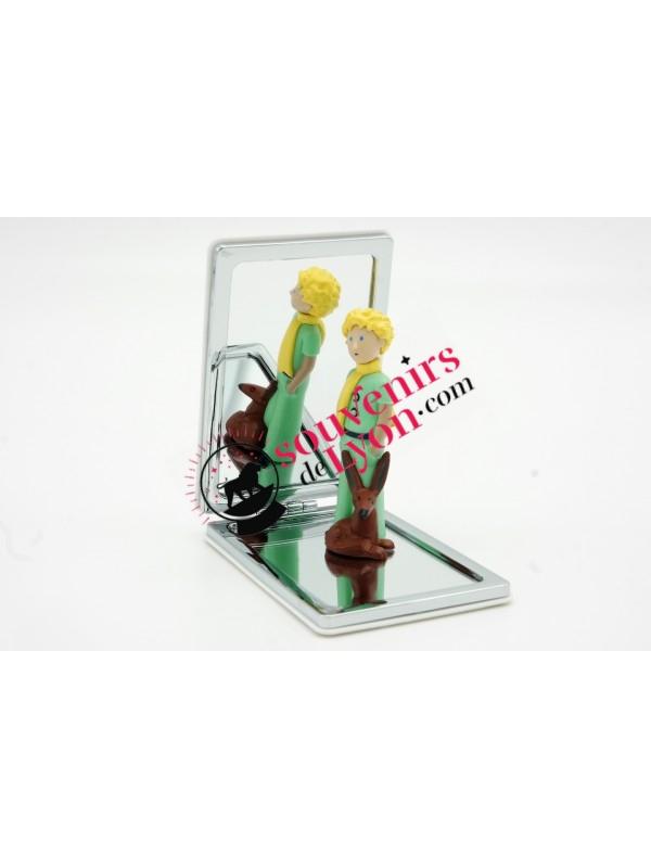 Miroir de poche le Petit Prince Rose et Renard chez Souvenirsdelyon.com