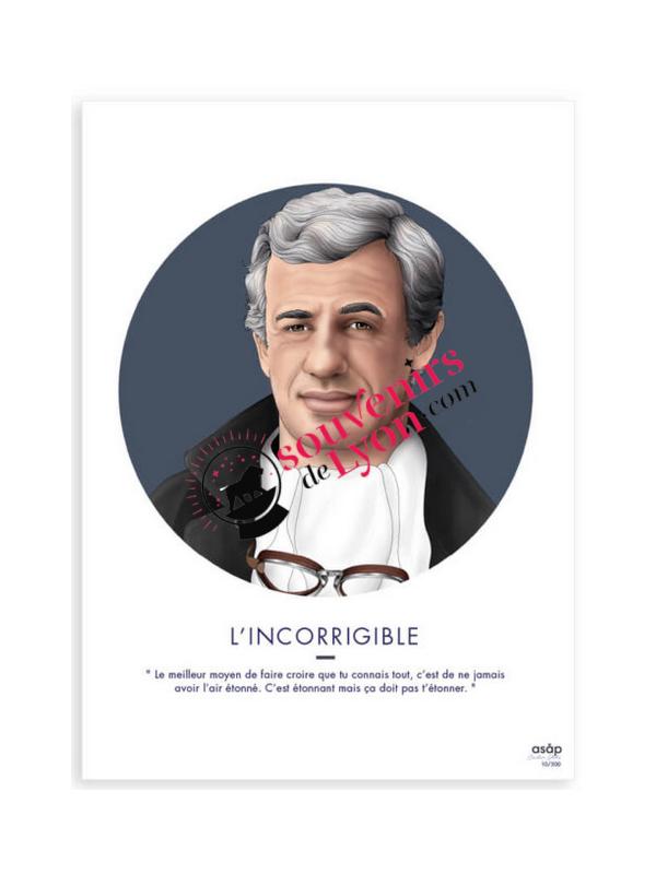The Incorrigible - Jean-Paul Belmondo - Asap Poster Souvenirsdelyon.com