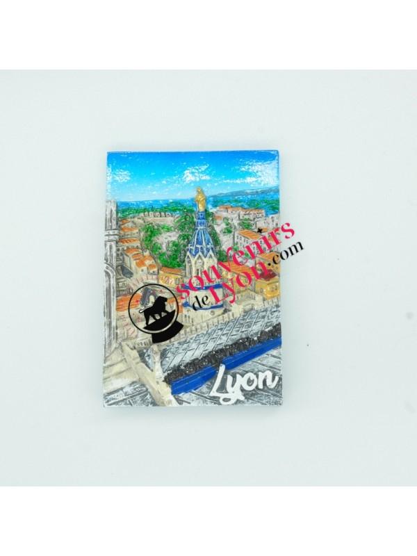 Magnet Lyon toits de Fourvière chez Souvenirsdelyon.com