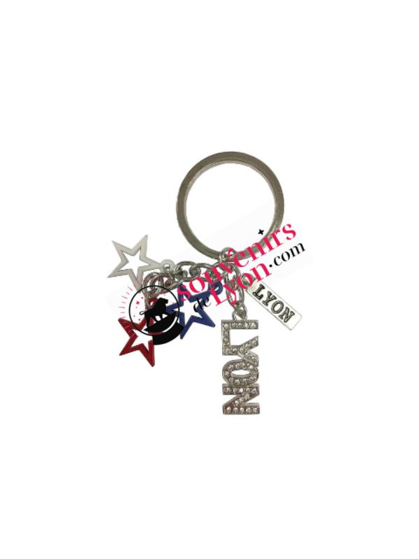 Porte-clés Lyon étoiles chez Souvenirsdelyon.com