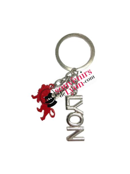 Porte-clés Lyon Onlylyon argent chez Souvenirsdelyon.com